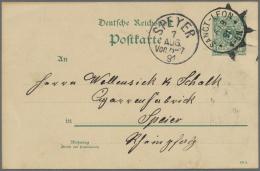 Deutsches Reich - Ganzsachen: 1890/1897, Bestand Von Ca. 290 Gebrauchten Ganzsachenkarten 5 Pfg. Krone/Adler Aus Alter F