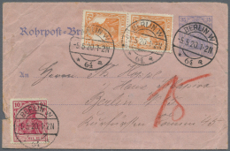 Deutsches Reich - Ganzsachen: 1876/1934, Sammlung Von 50 Rohrpost-Karten Und -Umschlägen, Alles Sehr Vielseitig Und
