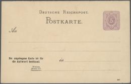 Deutsches Reich - Ganzsachen: 1875/1932, Umfangreiche, Ungebrauchte Und Gebrauchte Ganzsachenkarten-Sammlung Mit üb