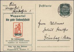 Deutsches Reich - Ganzsachen: 1875/1940 (ca.), Rund 260 Ungebrauchte Und Gebrauchte, Amtliche Ganzsachenkarten Mit Text-
