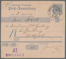 Deutsches Reich - Ganzsachen: 1872/1920, Ca. Karten Und Umschläge, Meist Gebraucht Ab Brustschild Mit Auslandspost,