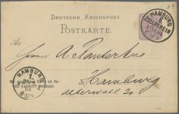 Deutsches Reich - Ganzsachen: 1872/1920, Partie Von über 800 Ganzsachen-Karten Und Einigen -Umschlägen/-Streif