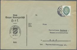 Deutsches Reich - Dienstmarken: 1928/1934, STROHHUTMUSTER, Vielseitiger Bestand Von Ca. 220 Briefen, Dabei Verwendungsfo