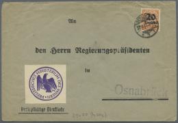 Deutsches Reich - Dienstmarken: 1923, Dienstmarken Mit Neuem Wertaufdruck In Der Hochinflation, 23 Meist Größ