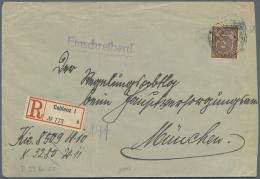 Deutsches Reich - Dienstmarken: 1920/22, Ziffernausgabe, Album Mit 33 Belegen Als Einzel-, Mehrfach- Und Massenfrankatur
