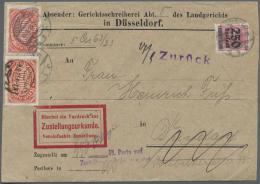 Deutsches Reich - Dienstmarken: 1920/1923, Interessante Portostufen-Sammlung Nach Portoperioden Sortiert In 4 Ordnern, D