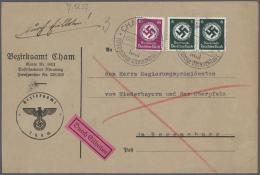 Deutsches Reich - Dienstmarken: 1886/1945, Umfangreiche Und Vielseitige Sammlung Von Ca. 220 Dienst-Briefen Und -Karten