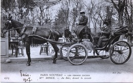 75 -Paris  -Les Femmes Cocher :  Mme Moser - Au Bois ,devant La Cascade . - Artisanry In Paris