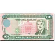 Turkmanistan, 1000 Manat, 1995-1998, 1995, KM:8, SPL - Turkménistan