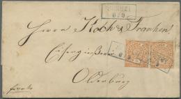 Oldenburg - Marken Und Briefe: 1860/1870 (ca.), Lot Von Fünf Besseren Belegen, Dabei MiNr. 6a Auf Vollständige