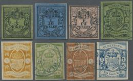 Oldenburg - Marken Und Briefe: 1852 - 1862, Komplette Sammlung Auf Vordruckblättern Mit Vielen Typen, Teils Gestemp