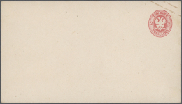 Lübeck - Ganzsachen: 1863/1865, Interessante Sammlung Mit Ca. 45 Ungebrauchten Umschlägen Auf Alten Albenbl&au