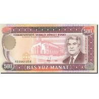 Turkmanistan, 500 Manat, 1995-1998, 1995, KM:7b, NEUF - Turkménistan