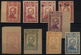 Vietnam-Nord (1945-1975): 1949 (ca.), Nice Lot With Better Values On 5 Stockcards, Please Inspect!