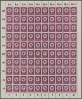 Deutsches Reich - Dienstmarken: 1941, 40 Pfg. Behördendienstmarke (MiNr. 142), Partie Von 41 Postfrischen Böge
