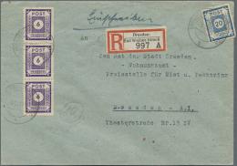 Sowjetische Zone - Ost-Sachsen: 1945 - 1946, Sammlung Von Etwa 200 Briefen, Fast Nur Bedarfsbriefe, überwiegend Ein
