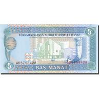 Turkmanistan, 5 Manat, 1993, Undated (1993), KM:2, SPL - Turkménistan