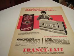 ANCIENNE PUBLICITE REGILAIT ET AMINCYL DE FRANCE - LAIT 1971 - Posters