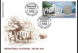 Romania 2015 FDC The Romanian Mint, 145 Years Coin Coins Horses Horse - Münzen