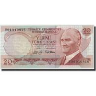 Turquie, 20 Lira, Undated (1974), KM:187a, 1970-01-14, NEUF - Türkei