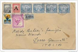 Francobolli Colombia Airmail Da Lucca A Bogota' Ann0 1959 - Colombia
