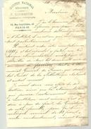 Lettre De 1908 Institut National Heraldique, F BONMARTIN, Généalogiste, Paléographe à Paris à P CARRIERE Officier Douane - Documents Historiques