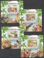 WW102 2012 BURUNDI PROTECTION DE LA NATURE FRAGMENTATION L'HABITAT 4LUX BL MNH