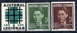 ROMANIA 1940 Legionnaires' Fund Including Unissued Stamp   MNH / **.  Michel IIa-b - 1918-1948 Ferdinand, Charles II & Michael