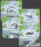WW105 2012 BURUNDI PROTECTION DE LA NATURE MARINE LIFE LES BALEINES 4BL MNH