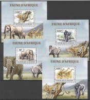 WW106 2013 BURUNDI FAUNA WILD ANIMALS FAUNE D'AFRIQUE 4LUX BL MNH