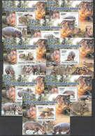 WW116 2011 BURUNDI FAUNA WILD ANIMALS LES HIPPOPOTAMES 8LUX BL MNH