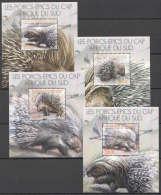 WW140 2012 BURUNDI FAUNA WILD ANIMALS LES PORCS-EPICS DU CAP AFRIQUE 4BL MNH