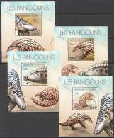 WW160 2012 BURUNDI FAUNA WILD ANIMALS LES PANGOLINS 4LUX BL MNH