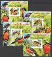WW87 2011 BURUNDI WWF FAUNA BIRDS GONOLEK DES PAPYRUS 4LUX BL MNH