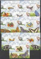 WW91 2011 BURUNDI FAUNA BUTTERFLIES LES PAPILLONS DU BURUNDI 8LUX BL MNH