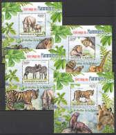 WW94 2012 BURUNDI PROTECTION DE LA NATURE FAUNA ROUGE DES MAMMIFERES 4BL MNH