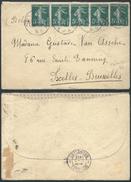 A800 France Lettre De Lille à Ixelles  ( Belgique Belgium )1912 - 1906-38 Semeuse Con Cameo