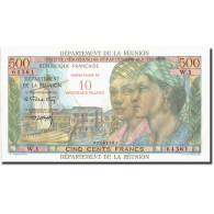 Réunion, 10 Nouveaux Francs On 500 Francs, Undated (1953), KM:54a, SPL - Reunion