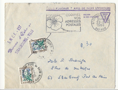 Colis Postaux, Avis De Non Livraison - SNCF Strasbourg - 1966 - Taxée à 60 Cts