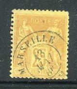 Superbe N° 92 - Cachet Maritime Marseille BM - 1876-1898 Sage (Type II)