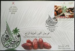 Sultanate Of Oman 2016 FDC - 4th Festival Of Omani Dates - Oman