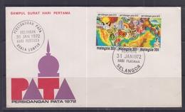 Malaysia 1972 PATA Conference FDC - Malaysia (1964-...)