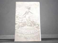 FRANCE - Bulletin Mensuel De La Maison Champion En 1934 - L 7974 - Catalogues De Maisons De Vente