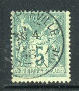 Superbe N° 75 - Cachet à Date De Philippeville ( Algérie 1898 )