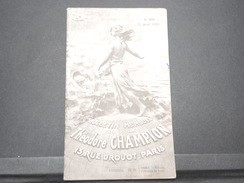 FRANCE - Bulletin Mensuel De La Maison Champion En 1934 - L 7975 - Catalogues De Maisons De Vente