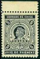 CHILE 1894 5c BLACK COLUMBUS PAYMENT CONFIRMATION** (MNH)