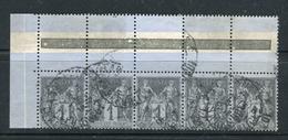 Rare Bande De Cinq N° 83 - Coin De Panneau