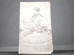 FRANCE - Bulletin Mensuel De La Maison Champion En 1934 - L 7977 - Catalogues De Maisons De Vente