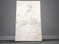 FRANCE - Bulletin Mensuel De La Maison Champion En 1934 - L 7978 - Catalogues For Auction Houses