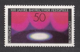 Germany BRD 1976 / MiNr. 896 ** MNH / Bayreuther Festspiele (1)